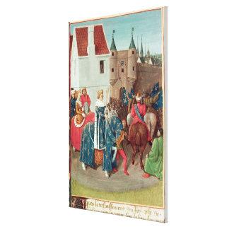 Entry into Paris of King Jean II  Le Bon Stretched Canvas Prints