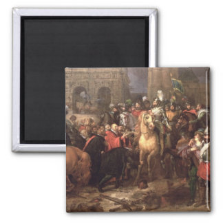 Entry of Henri IV into Paris, 22nd March 1594 Square Magnet