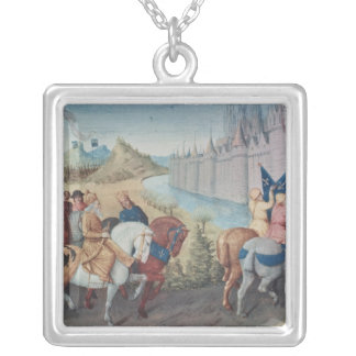 Entry of Louis VII  King of France and Conrad Silver Plated Necklace