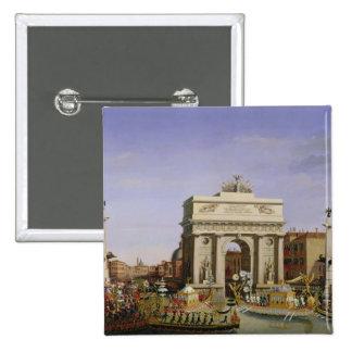 Entry of Napoleon I  into Venice, 1807 15 Cm Square Badge