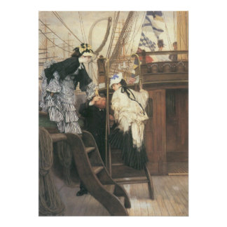 Entry to the yacht by James Tissot Poster