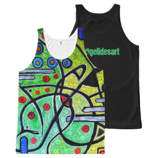 Entwined All-Over Print Singlet