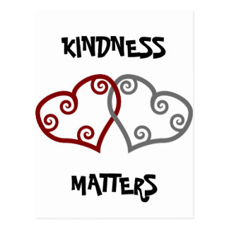 Entwined Hearts Kindness Matters Postcard