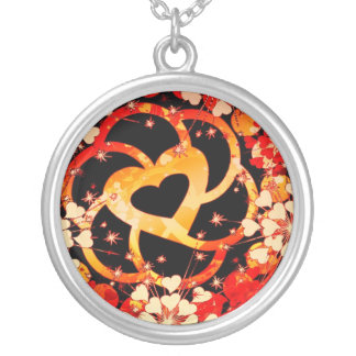 Entwined Love flowers Vibrant  Necklace