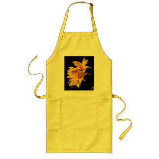 Entwined sunflowers aprons