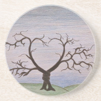 entwined tree print coaster