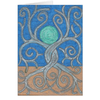 Entwined Trees Note Card