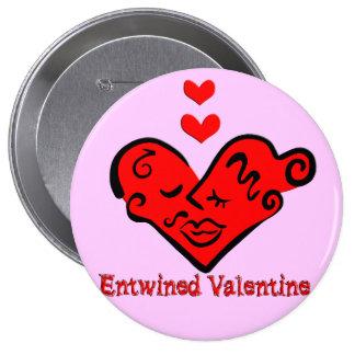 Entwined Valentine Pinback Button
