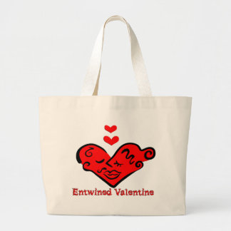 Entwined Valentine Tote Bags