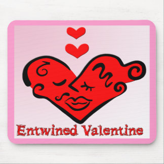 Entwined Valentine Mouse Pad