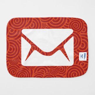 Envelope Casings Pictogram Burp Cloth