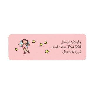 Envelope Mailing Adress Sticker Ballet Girl Return Address Label