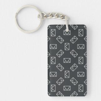 Envelope pattern key ring