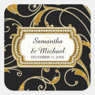 Envelope Seal Glam Old Hollywood Regency Black Tie Sticker