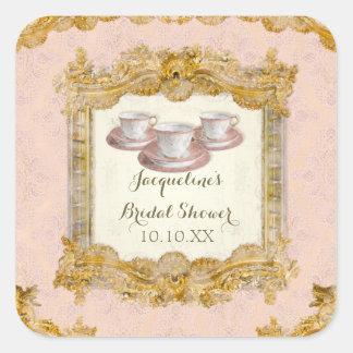 Envelope Seal Paris Palace Tea Party Bridal Shower Square Sticker