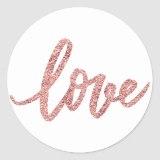 envelope seal rose gold glitter love script