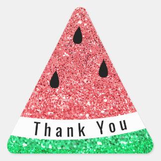 envelope seal thank you faux glitter watermelon