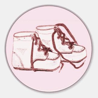 Envelope Seals Pink Vintage Baby Shoes