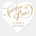 Envelope Seals Script Forever in Love Gold Glitter