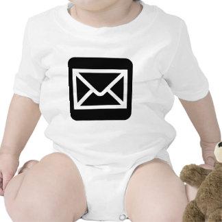 Envelope Sign - Black Tee Shirts