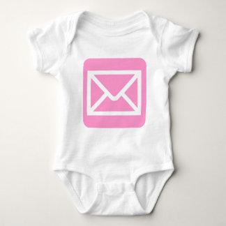 Envelope Sign - Pink Baby Bodysuit