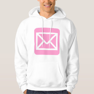 Envelope Sign - Pink Hooded Sweatshirts
