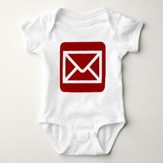 Envelope Sign - Ruby Red Baby Bodysuit
