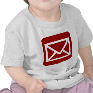 Envelope Sign - Ruby Red Tee Shirt