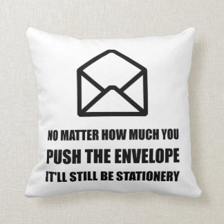 Envelope Stationery Throw Pillow