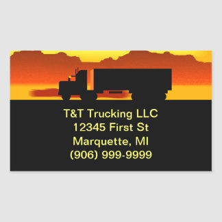 Envelope Stickers Semi OTR Trucking CO Promotion