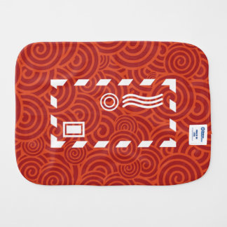 Envelope Wrappings Pictograph Burp Cloth