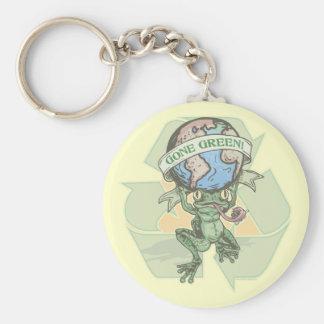 Enviro Frog Gone Green Earthday Gear Basic Round Button Key Ring