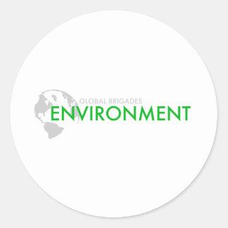 Environment Brigade Classic Round Sticker