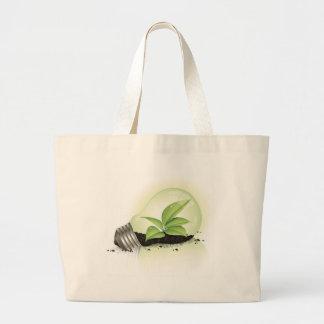 Environment Lightbulb greens plants soil causes en Canvas Bag