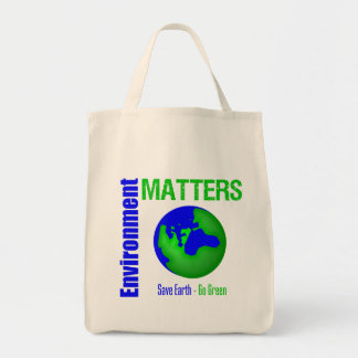 Environment Matters Save Earth Go Green Canvas Bag