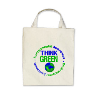 Environment THINK GREEN Save Our Planet Canvas Bag