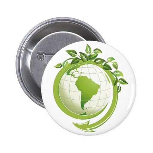 Environmental Awarness Recycle Button