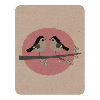 Environmental card with Love birds