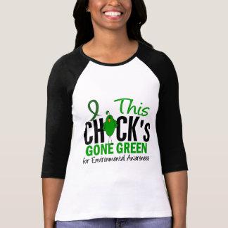 ENVIRONMENTAL Chick Gone Green T-shirts