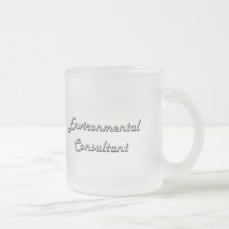 Environmental Consultant Classic Job Design Frosted Glass Mug