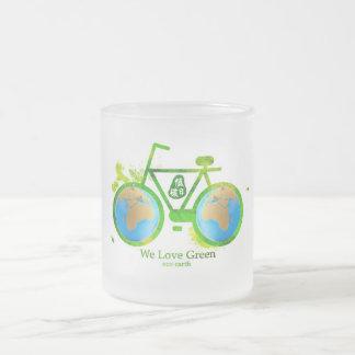 Environmental eco-friendly green bike coffee mugs
