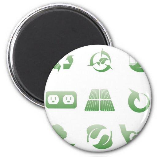 environmental icons 3 fridge magnet