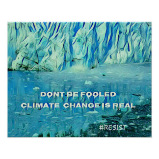 Environmental impact of global warming on glaciers poster