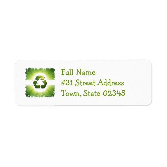 Environmental Issues Return Address Label