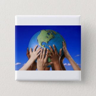 Environmental Issues Save The World 15 Cm Square Badge
