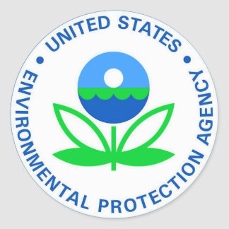 Environmental Protection Agency EPA Classic Round Sticker