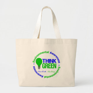 Environmental THINK GREEN Bulb Tote Bags