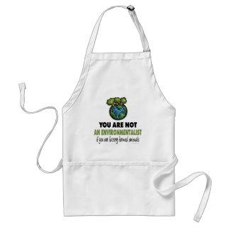 Environmentalist = Vegan, Vegetarian Aprons