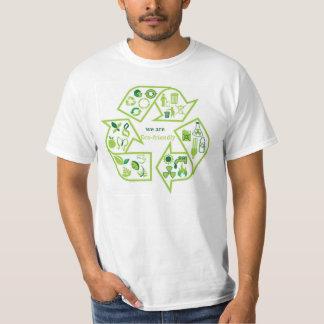Environmentally eco-friendly green T-shirt