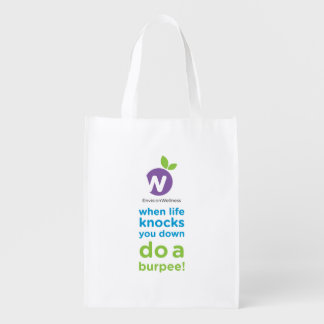 Envision Wellness: Burpees Reusable Grocery Bag